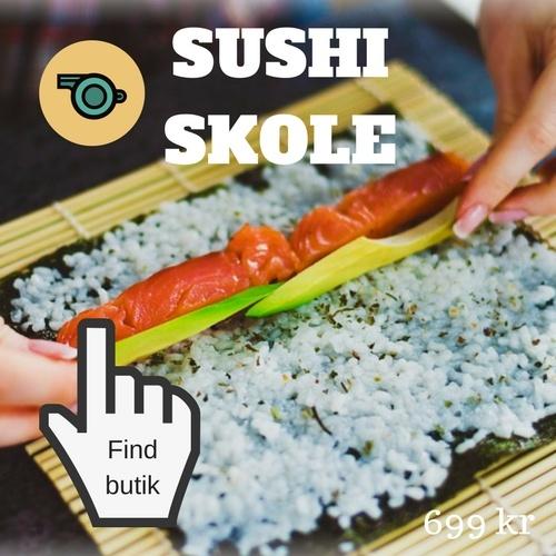 Gaveønsker til kvinde sushi skole oplevelse Oplevelsesgavekort til hende