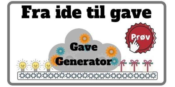 Morefews gave generator fra ide til gave