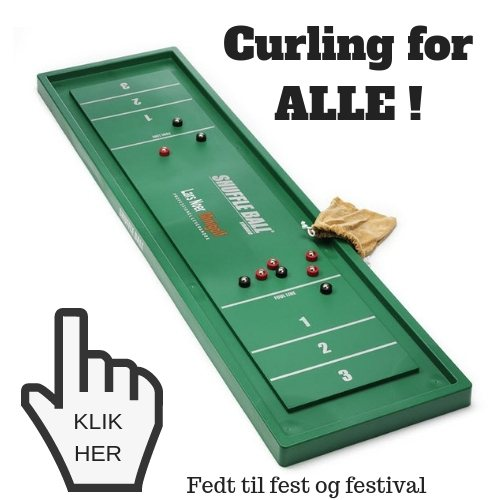 Curling til bordet shuffleboard
