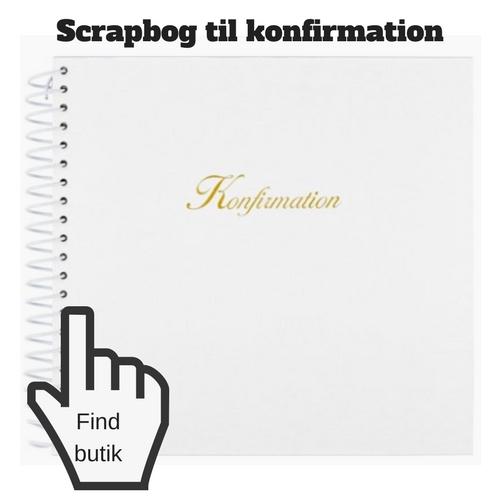 scrapbog til konfirmation