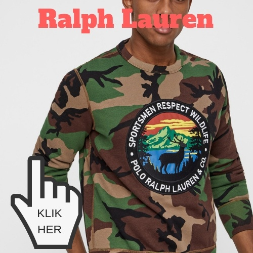 Ralph Lauren camouflage army sweatshirt teenager