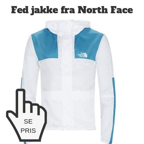 Windbreaker blå hvid north face