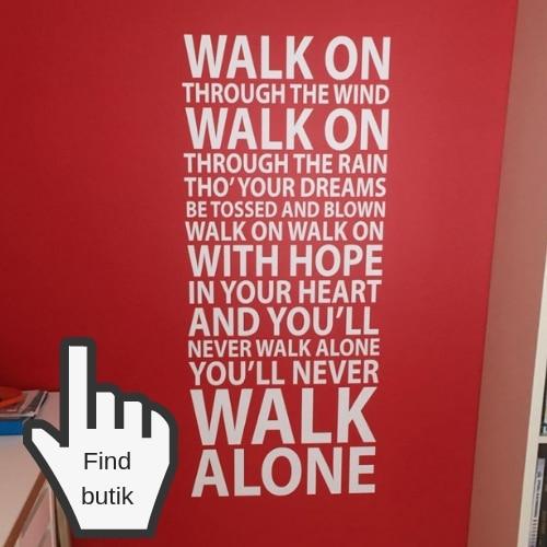 Liverpool klistermærke til væg never walk alone