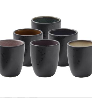 espressokopper i forskellige farver