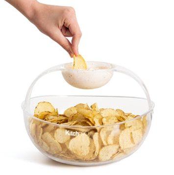 Chips og dip skål