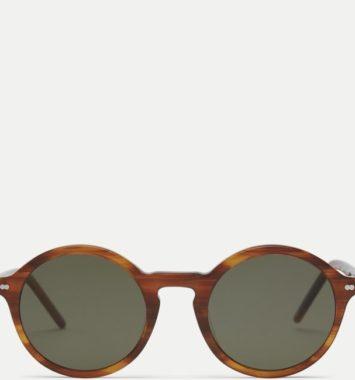 Flotte brune solbriller i rund form
