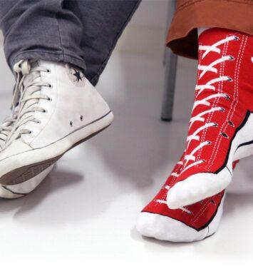 Roede converse sokker