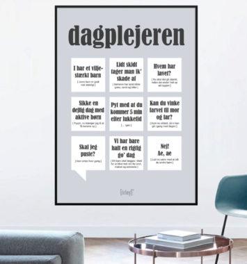 Dagplejemor plakat