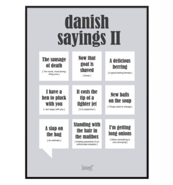 Danish sayings 2 gaveidé sjov med engelske udtryk