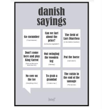 Danish sayings plakat til mor