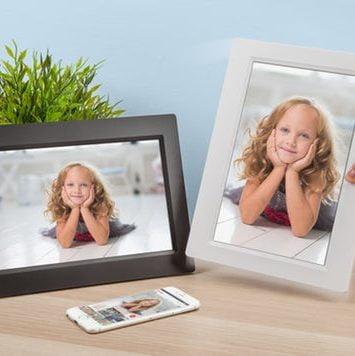 Digital fotoramme til bedsteofrældre