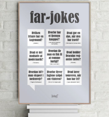 citatplakat med far jokes