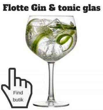 Gaveideer drinks GT glas