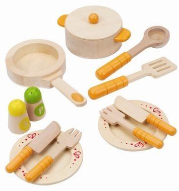 Køkkengrej til legetøjskokkenet