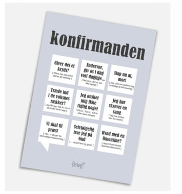 Konfirmand kort
