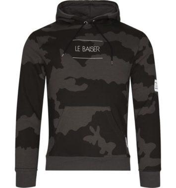Le Baiser hoodie med army print