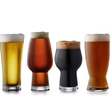 fire forskellige ol-glas fra Lyngby