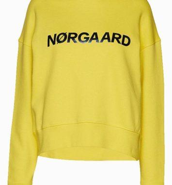 Mads Nørgaard gul crewneck sweater