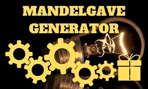 Mandelgave generator hurtig mandelgave