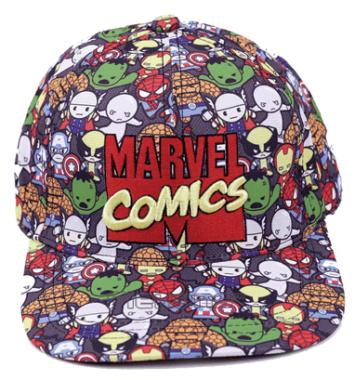 marvel comics farverig kasket