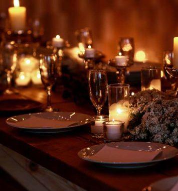 elegant spisebord på slottet