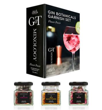 gin garnish med blomster
