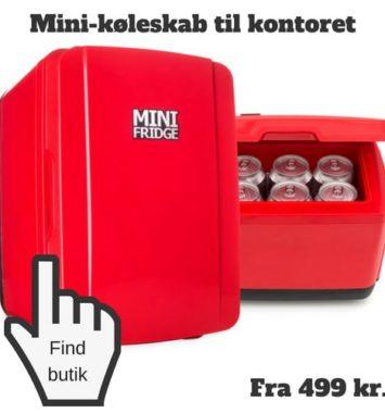 rødt minikøleskab