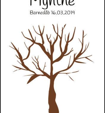 navne plakat gæste træ