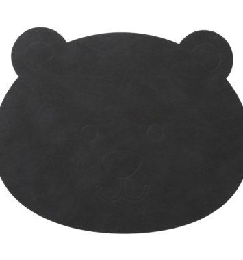 sort nuttet bamse dækkeserviet