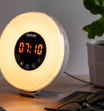 Vækkeur med natuligt belysning