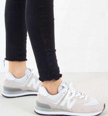 New Balance hvide sneakers