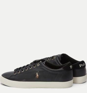 sorte sneakers til maend i laeder