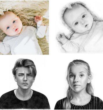 Portræt af børnebørn