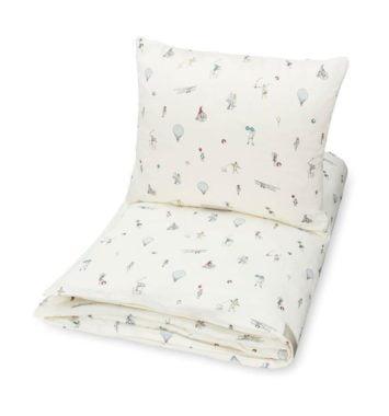baby sengetoej i hvid