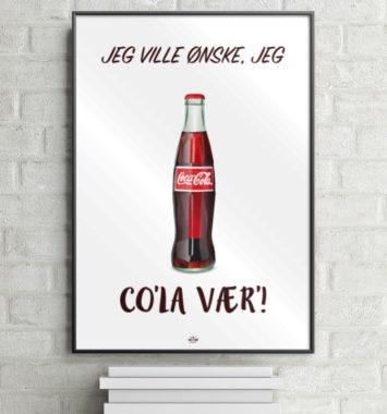 Sjov cola plakat til teenageværelset