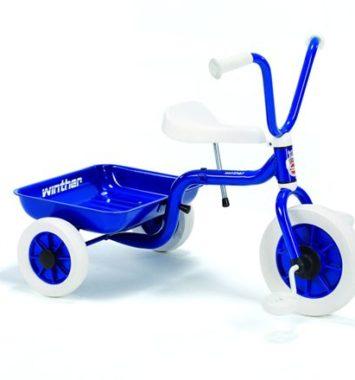 Blå smart trehjulet cykel