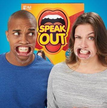 selskabsleg speak out
