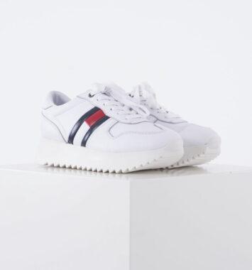 Hvide Hilfiger sneakers