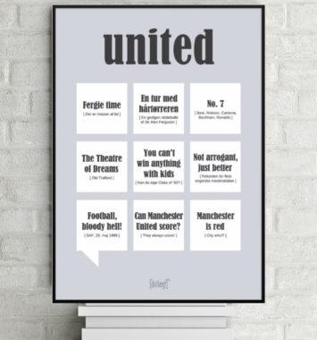 fodbold plakat united