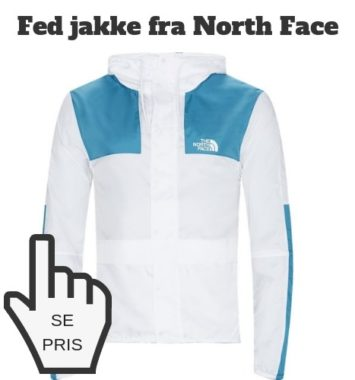 Windbreaker blå hvid north face