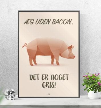 citat plakat med bacon