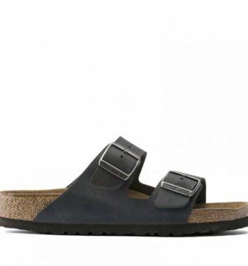 Birkenstock Arizona sort laeder sandaler