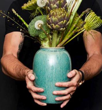 bitz groen vase