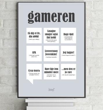 plakat med gamer citater