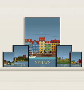 designkunst plakat nyhavn