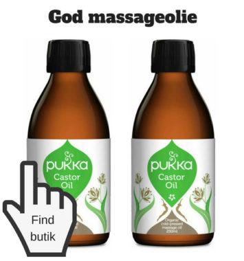 forkælelse med massage olie og creme