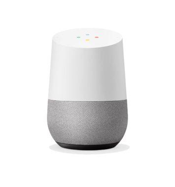Hvid og grå google home