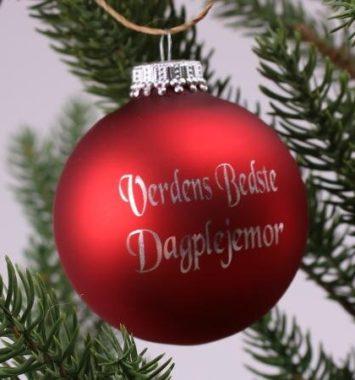 Julekugle til dagplejemor
