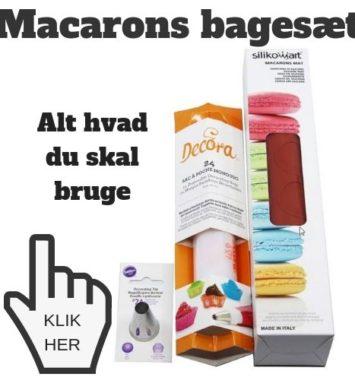 macarons bagesæt som gave
