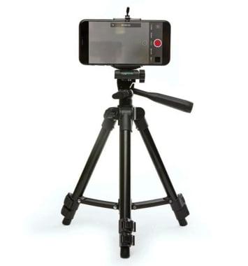 mobil og kamerastativ
